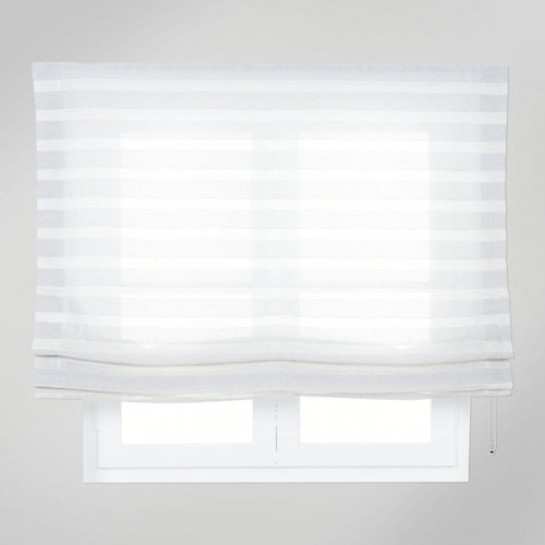 Estor plegable gris horizontal 180x175 cm
