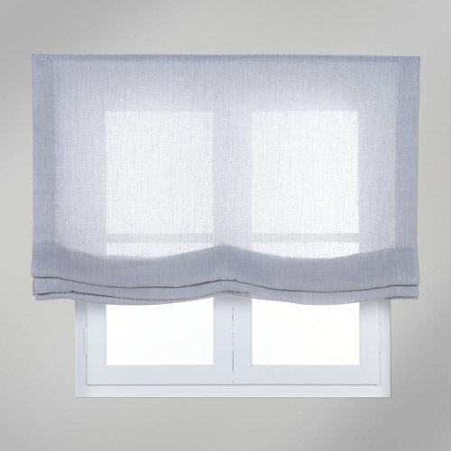 Estor plegable gris fórum 90x175 cm