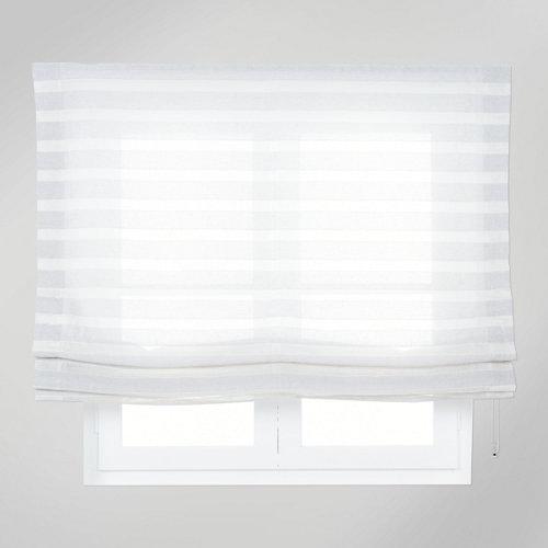 Estor plegable gris horizontal 75x250 cm