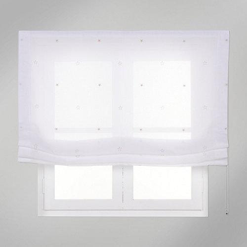 Estor plegable beige estrellas 75x175 cm
