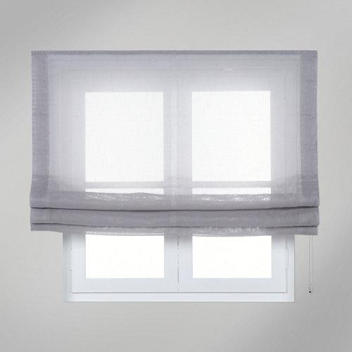 Estor plegable gris flamen 105x250 cm