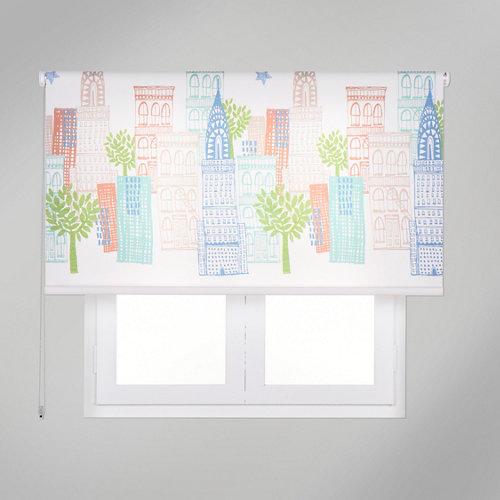 Estor enrollable app skyline stars multicolor de 154x250cm