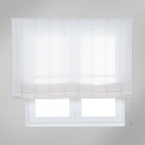 Estor plegable blanco caños 135x175 cm