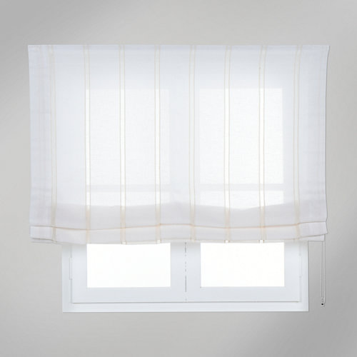 Estor plegable blanco caños 120x175 cm