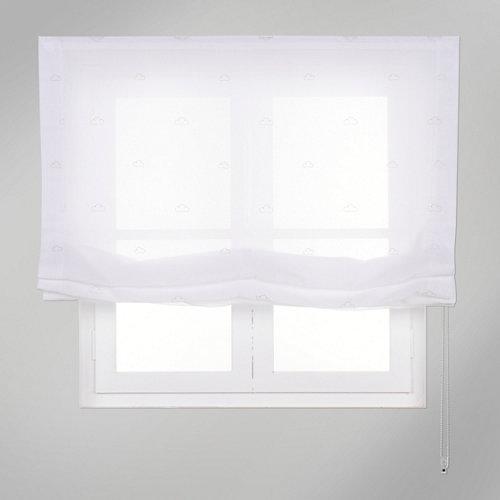 Estor plegable beige nubes 75x250 cm