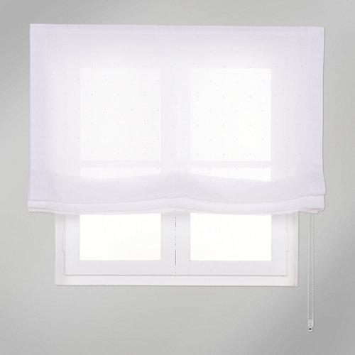 Estor plegable blanco topos 120x250 cm