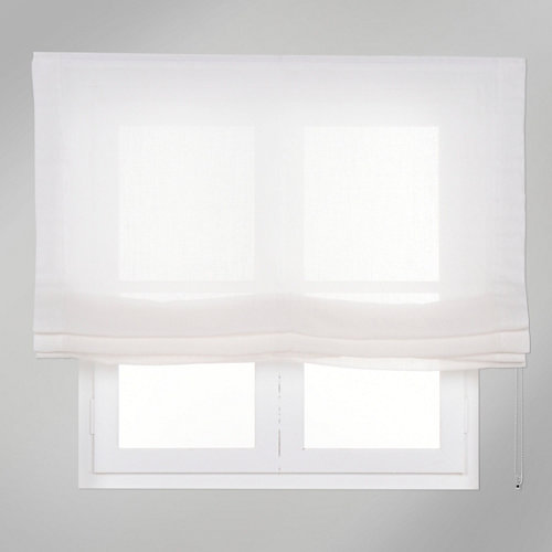 Estor plegable blanco fórum 135x250 cm