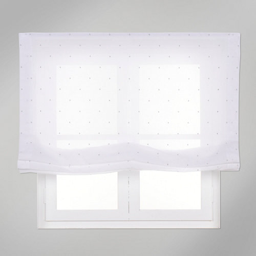 Estor plegable gris topos 90x250 cm