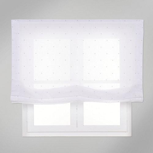 Estor plegable gris topos 75x250 cm