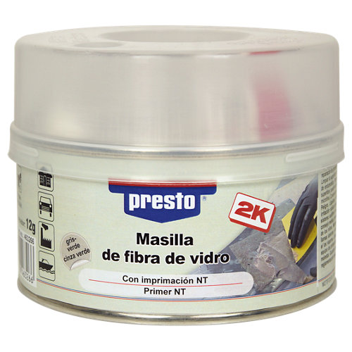 Masilla de fibra de vidrio presto de 500 gr