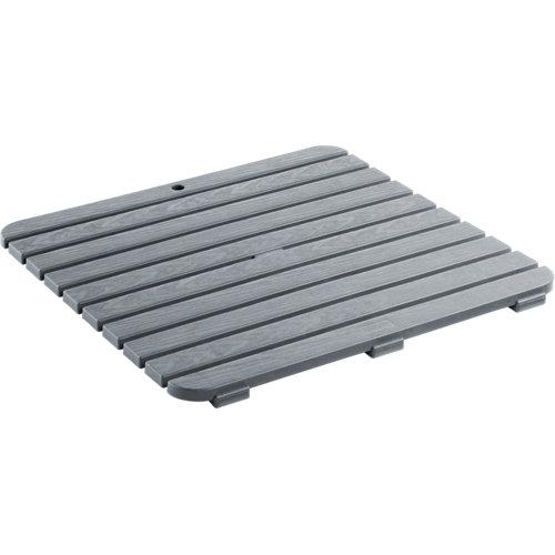 Tarima baño cuadrada gris / plata 55.5x 55.5 cm