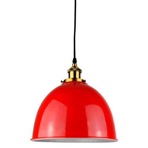 Lámpara de techo belfast roja 1 luz
