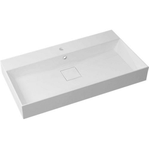 Lavabo pure blanco 90x14,7x49 cm