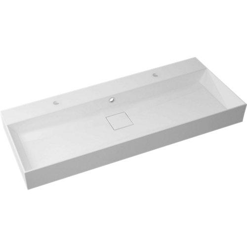 Lavabo pure blanco 120x14.7x10.2 cm