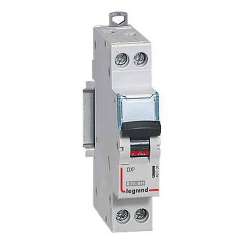 Interruptor magnetotérmico unipolar + neutro legrand de 20a con 2 módulos