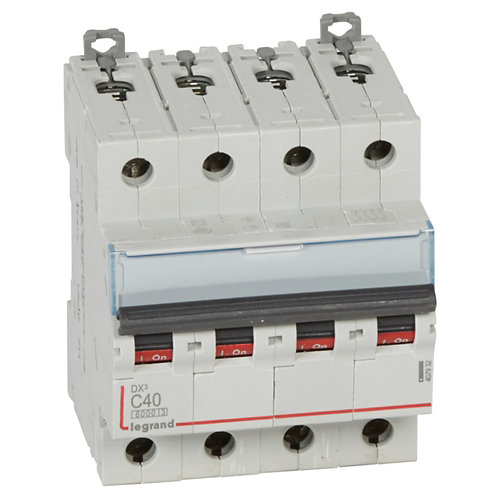 Interruptor magnetotérmico tetrapolar legrand de con 4 módulos