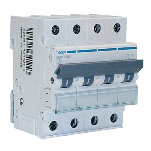 Interruptor magnetotérmico tripolar hager de con 3 módulos