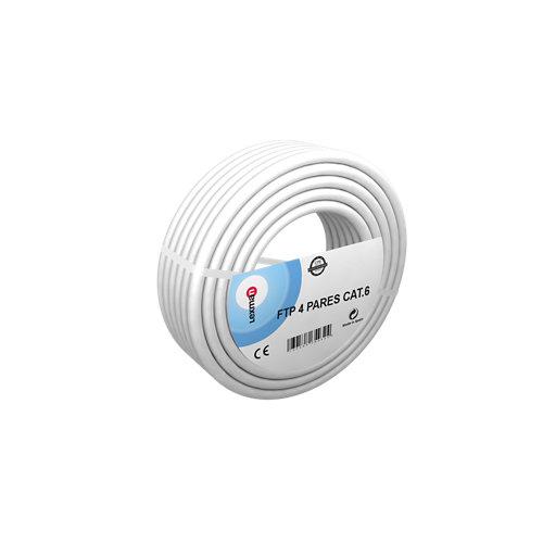 Cable de red de datos lexman ftp cat6 de 4 pares 25 m verde