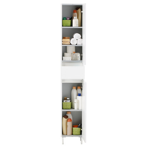 Columna de baño spazio blanco 30x182x24 cm