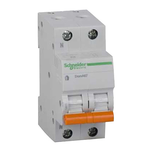 Interruptor magnetotérmico unipolar + neutro schneider de con 1 módulos