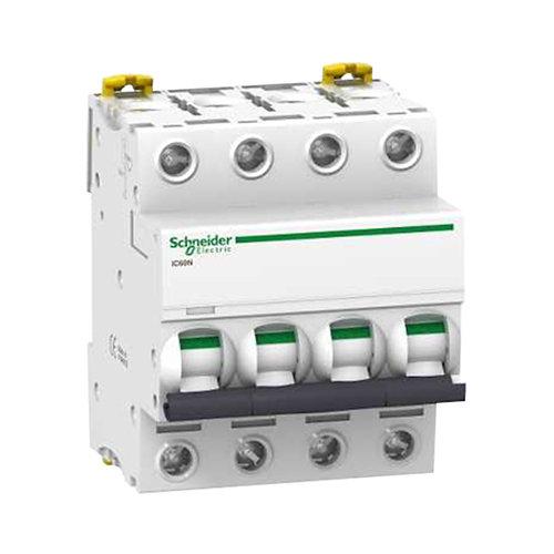Interruptor magnetotérmico tetrapolar schneider de 32a con 4 módulos