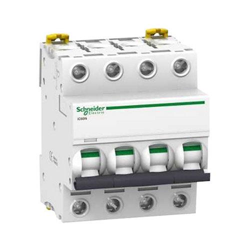 Interruptor magnetotérmico tetrapolar schneider de con 4 módulos