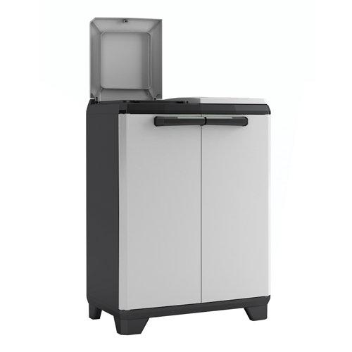 Armario para reciclaje reciclaje de 68x92x39 cm para uso interior / exterior