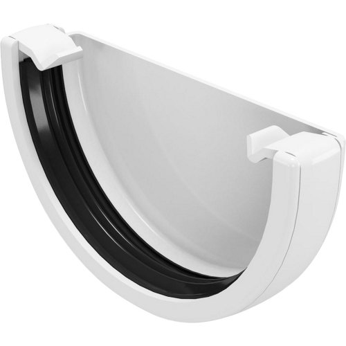 Tapón para canalón de pvc classic blanco ø80mm