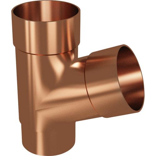 Conexión para bajante de pvc de 67° cobre y ø 80 mm