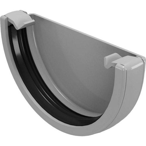 Tapón para canalón de pvc classic gris