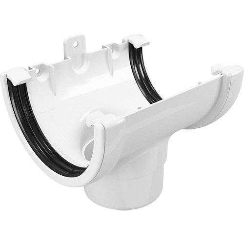 Conector central para canalón classic blanco ø80mm