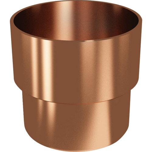 Manguito para tubo de pvc ø 80 mm cobre