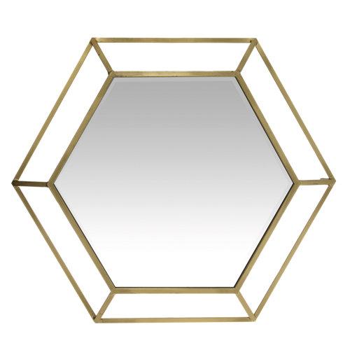 Espejo hexagonal double hexagon 81 x 81 cm