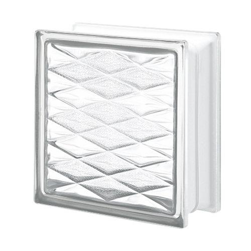 Bloque de vidrio mosaico neutro 19x19x8 cm
