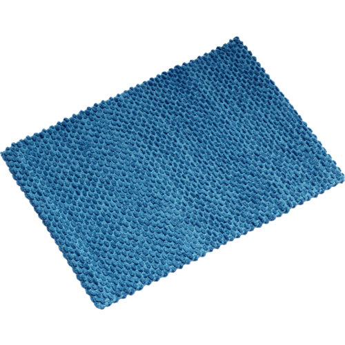 Alfombra de baño pampa rectangular azul 40x60 cm