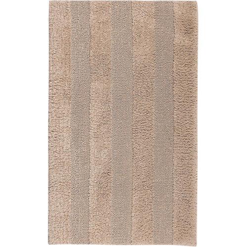 Alfombra de baño new plus rectangular beige 40x60 cm