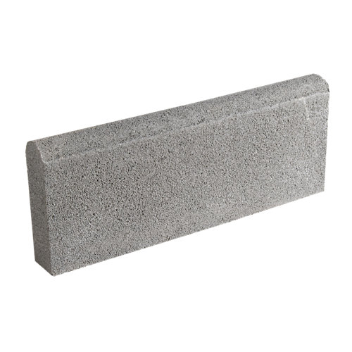 Bordillo redondo castellon 20x50 cm gris