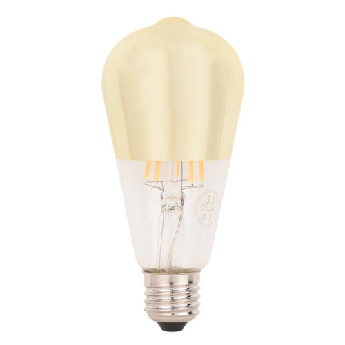 Bombilla led decorativa @led e27 6w 2700k (amarillo)