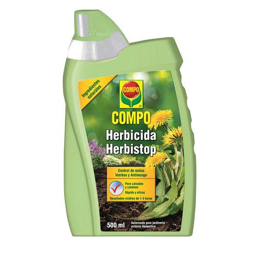 Herbicida concentrado compo herbistop elimina malas hierbas uso ecológico 500ml