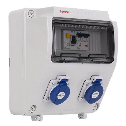 Cuadro eléctrico industrial famatel 9 módulos ip65 precab