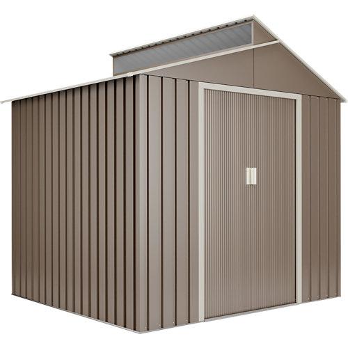 Caseta de metal breda de 220x214x193 cm y 4.25 m2