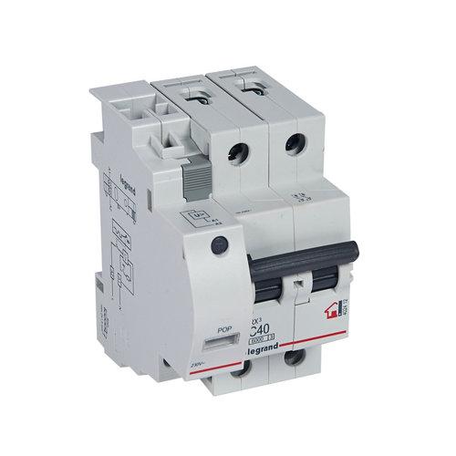 Interruptor magnetotérmico bipolar legrand de con 3 módulos