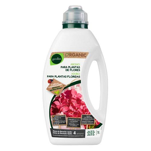 Fertilizante para plantas de flor geolia para uso ecológico 1l