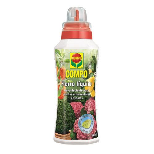 Hierro líquido plantas ornamentales y frutales compo efecto reverdeciente 500ml