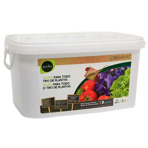 Abono universal geolia para todo tipo de plantas y de uso ecológico 3kg