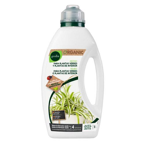 Fertilizante para plantas verdes y de interior geolia para uso ecológico 1l