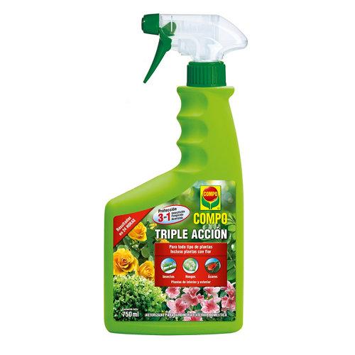 Insecticida triple acción compo 3 en 1 contra insectos, ácaros y hongos 750ml