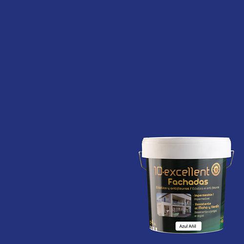 Pintura para fachadas elastica 10excellent azul añil 4l