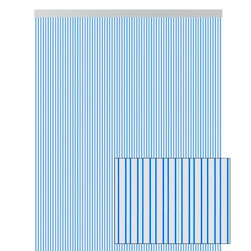 Cortina de puerta azul de 90 x 210 cm