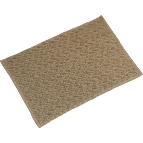 Alfombra de baño zigzag rectangular beige 40x60 cm
